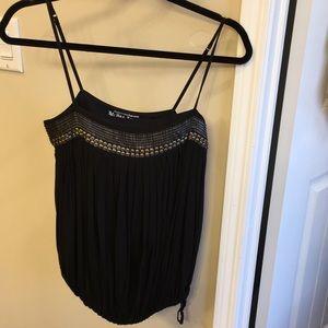 VS embellished black top